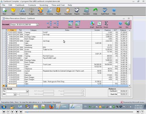 An overview of Cashbook