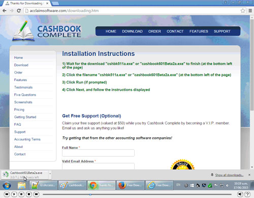 How to install Cashbook Complete